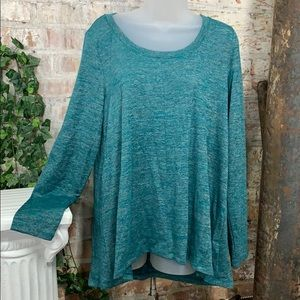 NWT Jones New York Knit Top Jade Melange